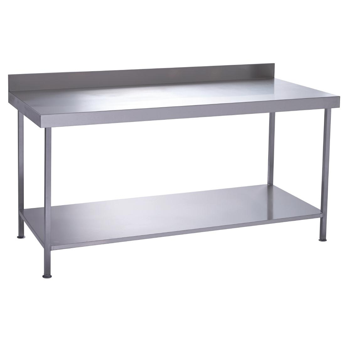 Parry Fully Welded Stainless Steel Wall Table with Undershelf 1500x600mm