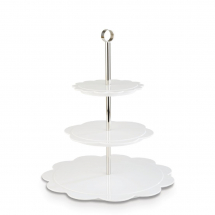 APS Plus Bakery Afternoon Tea Stand White