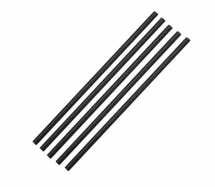 Black Biodegradable Paper Straws - Box of 250