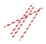 Red Biodegradable Paper Straws Box of 250