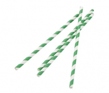 Green Biodegradable Paper Straws - Box of 250