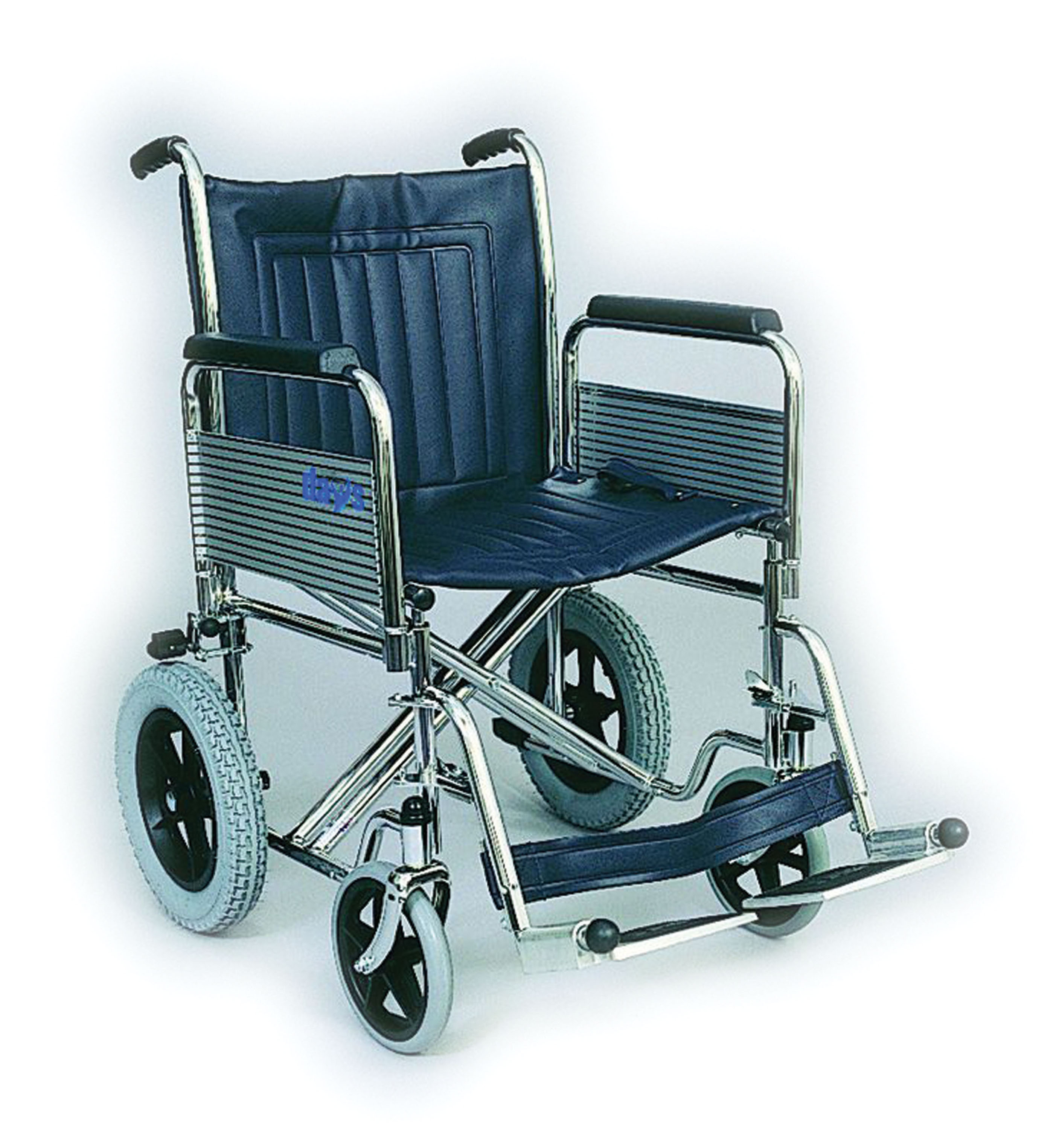 Wheel Chair with Fold Away Foot Rests