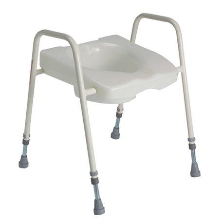 Adjustable Height Toilet Aid ( (190kg capacity)