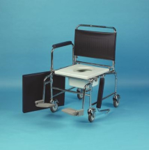 Mobile Commode 20 inch Seat - Detach arms & Footrests