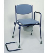 Adjustable Height stackable Co ommode w/c detachable arms