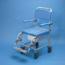 Aluminium Commode & Shower Cha air with wheels