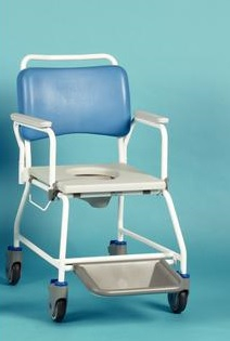 Atlantic Commode/Showerchair - 455mm 18inch - w/footrest