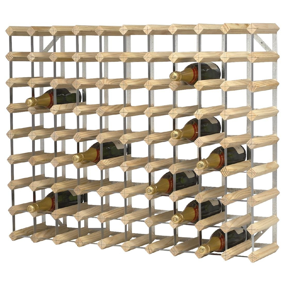 Wine Rack Wooden 90 Bottle