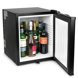 ChillQuiet Silent Mini Bar Fridge 32ltr Black