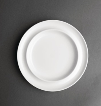 Heritage Raised Rim White Plates 8inch - Box of 4
