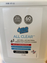 5LTR 4 IN 1 ANTI VIRAL A/BAC DISINFECTANT SURFACE CLEANER
