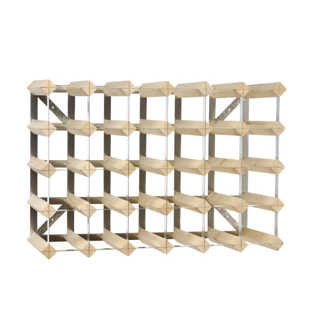 Wine Rack Wooden 30 Bottle