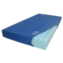 Blue Mattress Cover - 4 foot 6 6 inch Bed (WITH ZIP)
