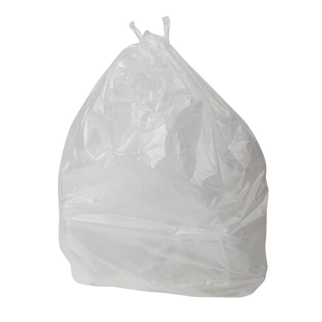 Jantex Swing Bin Liners White Pack of 1000