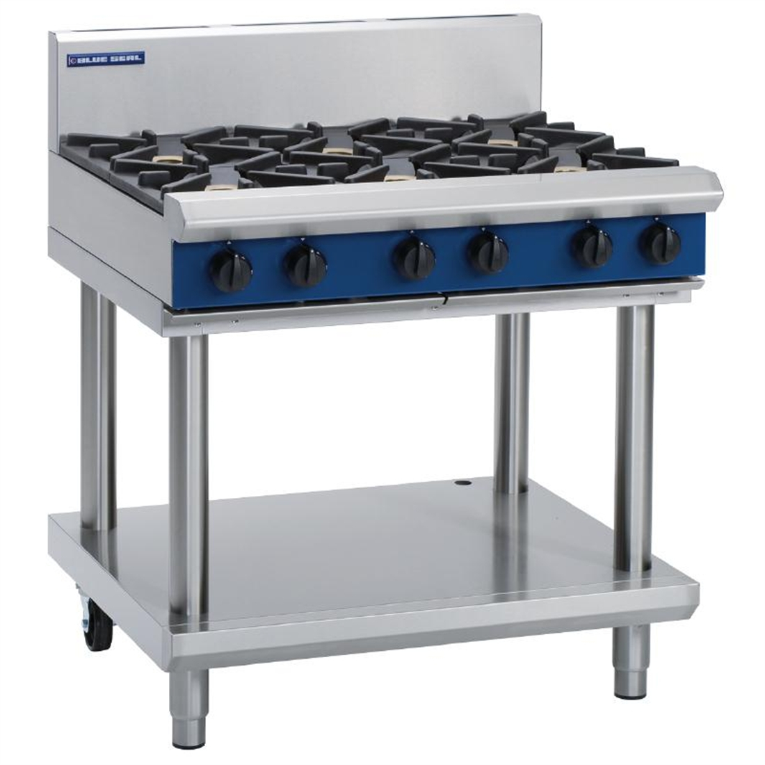 Blue Seal Evolution Cooktop 6 Open Burners LPG on Stand 900mm G516D-LS/L