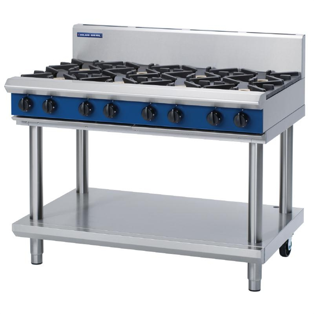 Blue Seal Evolution Cooktop 8 Open Burners LPG on Stand1200mm G518D-LS/L