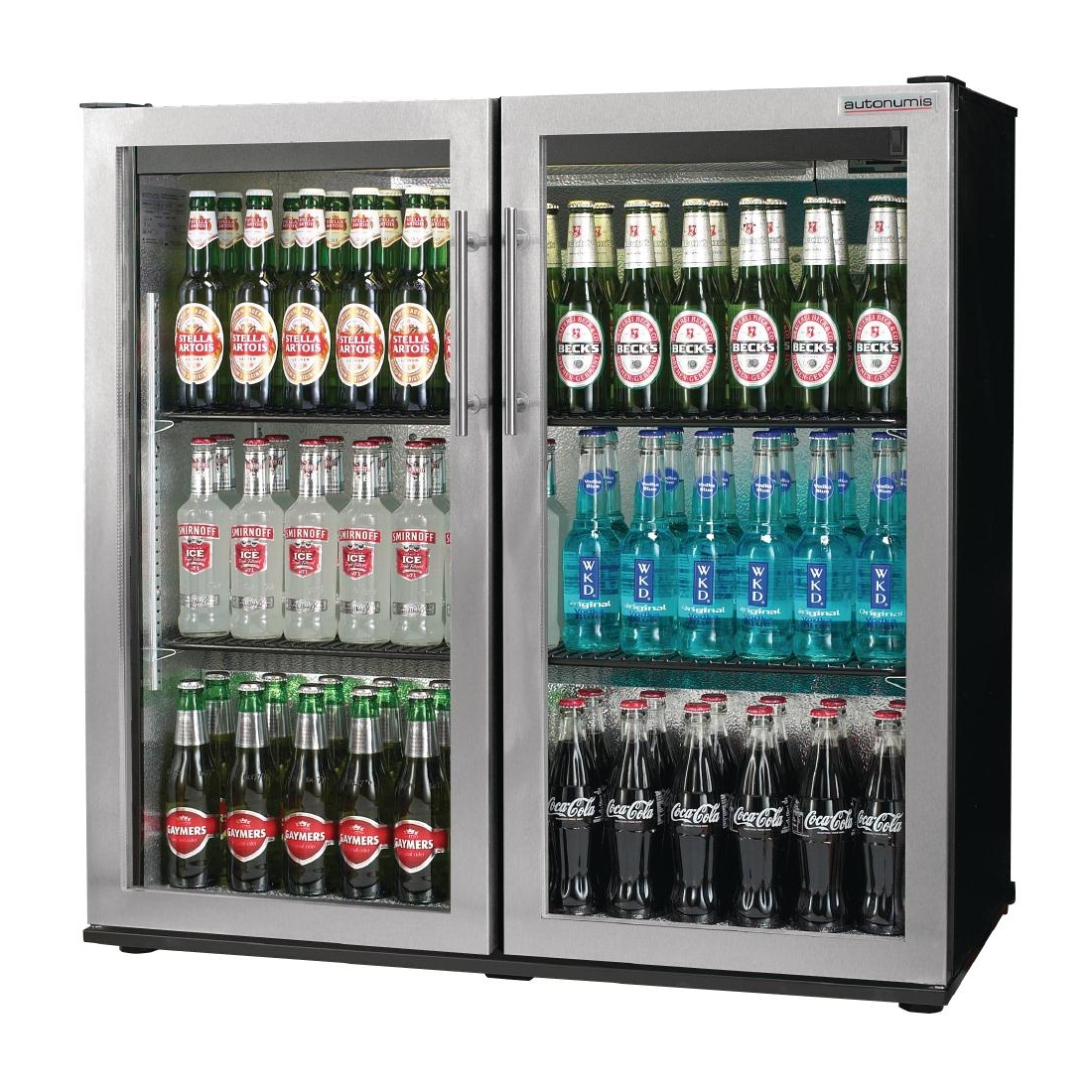 Autonumis Popular Double Hinged Door 3Ft Back Bar Cooler St/St Door A21513