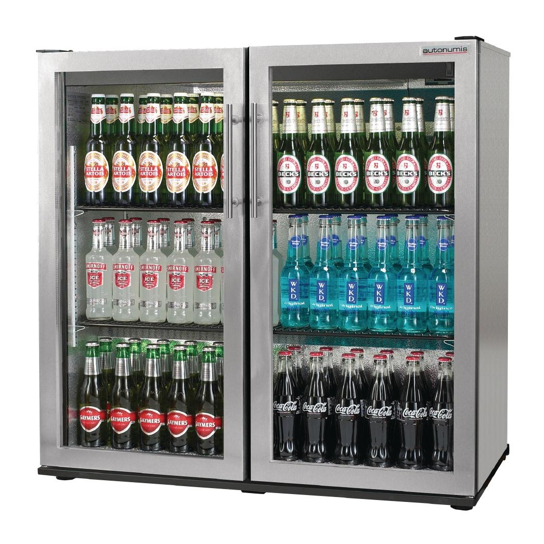 Autonumis Popular Double Hinged Door 3Ft Back Bar Cooler St/St A21545