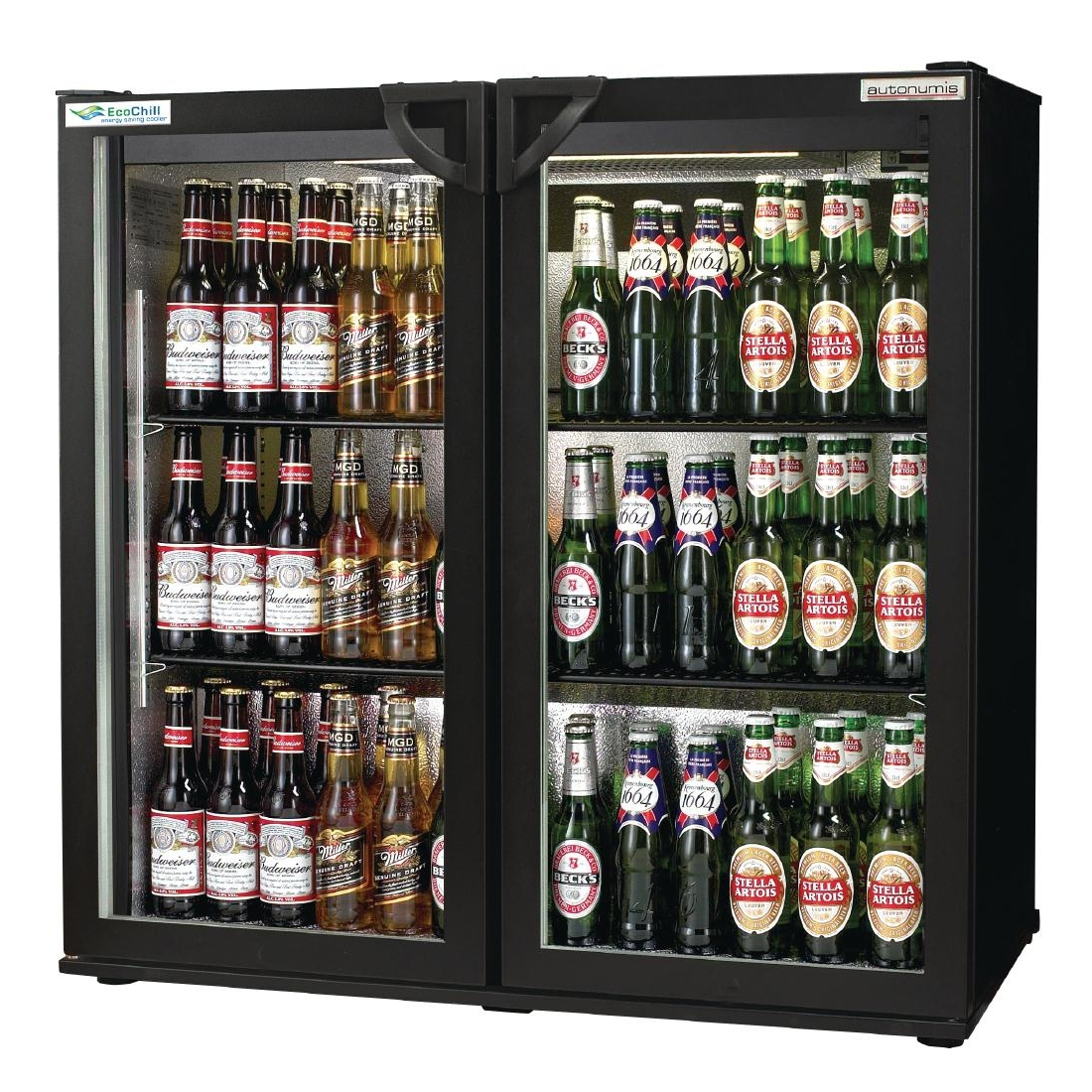 Autonumis EcoChill Double Hinged Door 3Ft Back Bar Cooler Black A215128