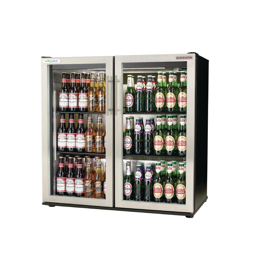Autonumis EcoChill Double Hinged Door 3ft Back Bar Cooler St/St Door A215148