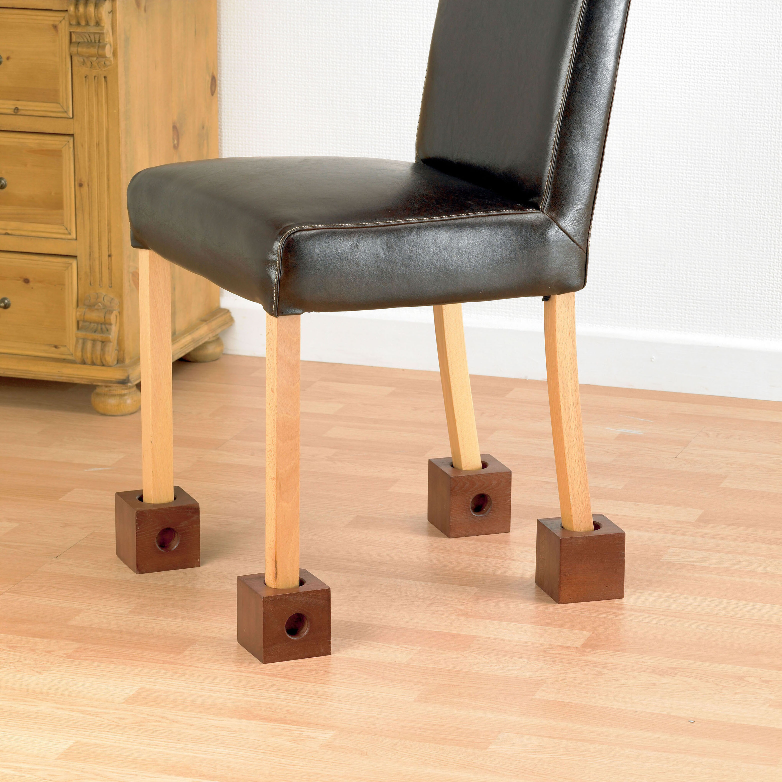 Wooden Chair Raisers (set of 4 4) 3.5 inches