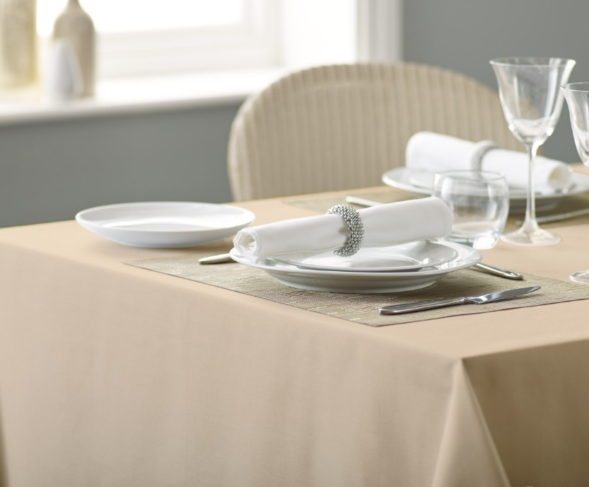 Alpha Plain Table Cloth 137x13 7x137cm - Biscuit