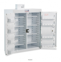 Drugs Cabinet 800x300x900mm Dbl/Dr - 8 Shelves - No Light