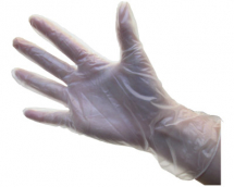 Box of Extra-Large Vinyl Glove es, ( powdered )