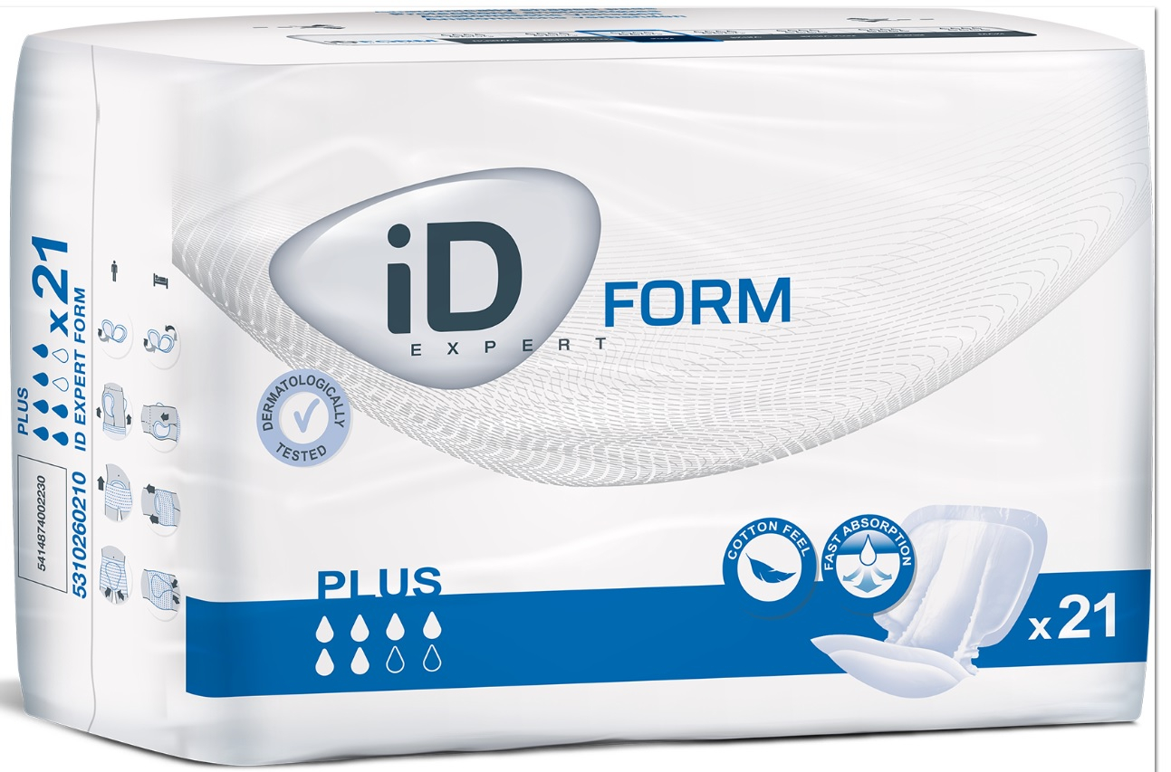 iD Expert Form Plus Size 2 - 6 x 21 Pads