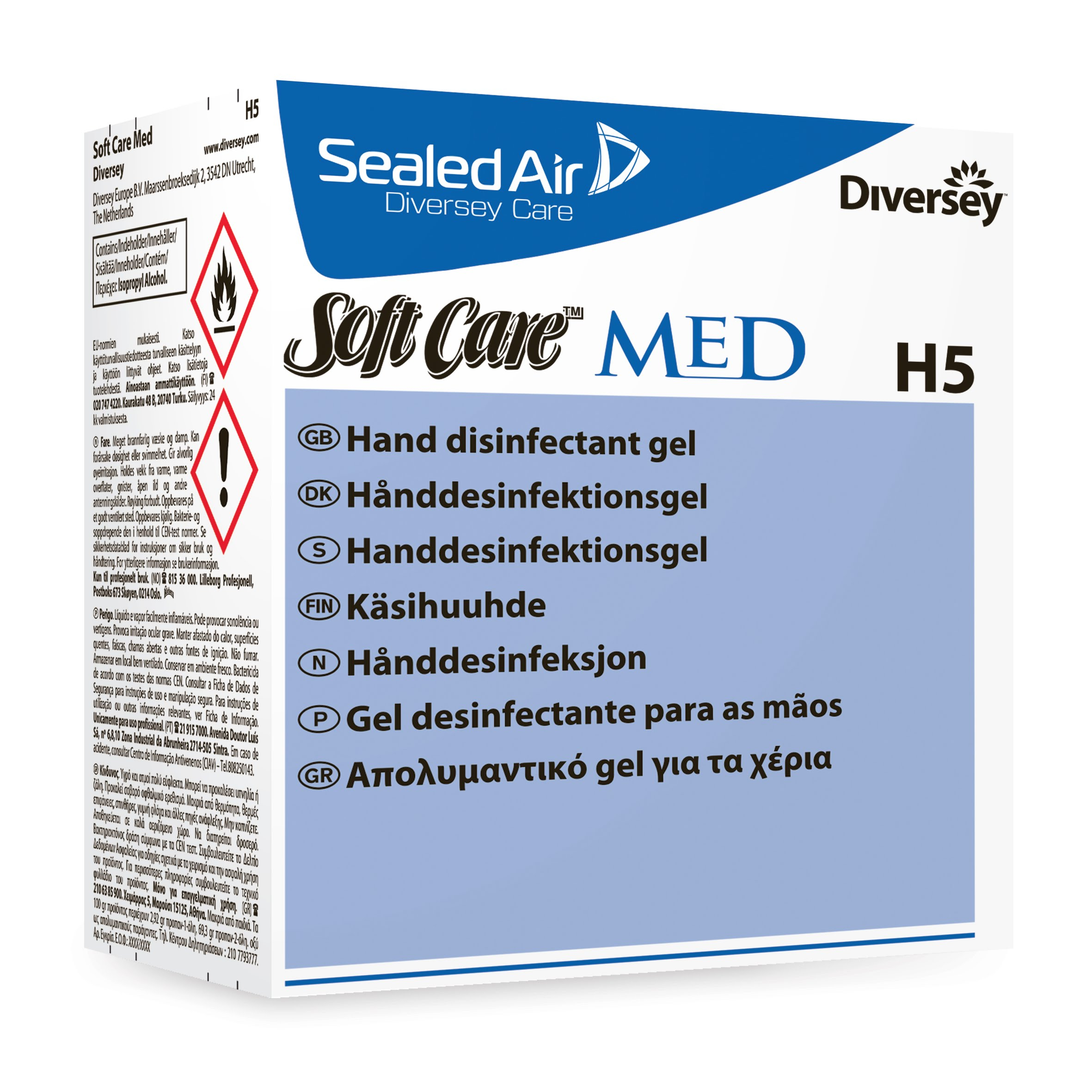 Soft Care MED H5 Alcohol Gel - 6 x 800ml