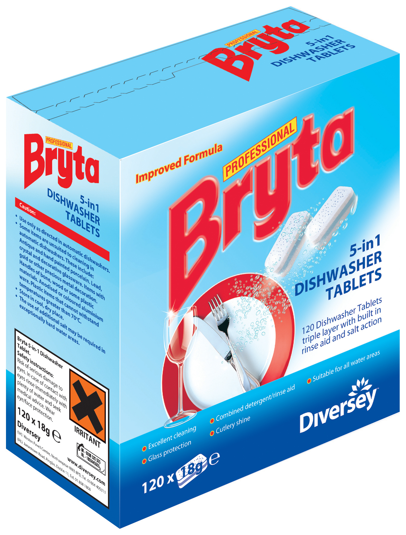 Bryta 5 in 1 Dishwasher Tablets - 4 x 120 Tablets