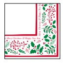 Jolly Holly Napkin - 33cm 2ply Pack of 100