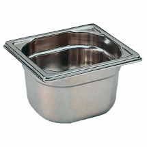 Bourgeat Stainless Steel 1/6 G Gastronorm Pan 100mm  1.7Ltr