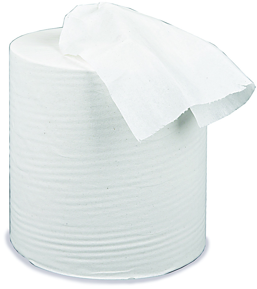 White Centre Feed Rolls 2 ply  x 6