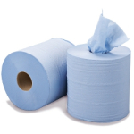 2 Ply Blue Centre Feed Roll (200mm x 150 Meters)