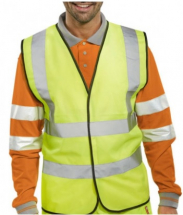 Hi-Vis Two Band Vest - Yellow