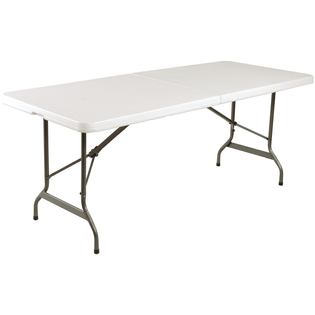 Bolero Centre Folding Utility Table 6ft White