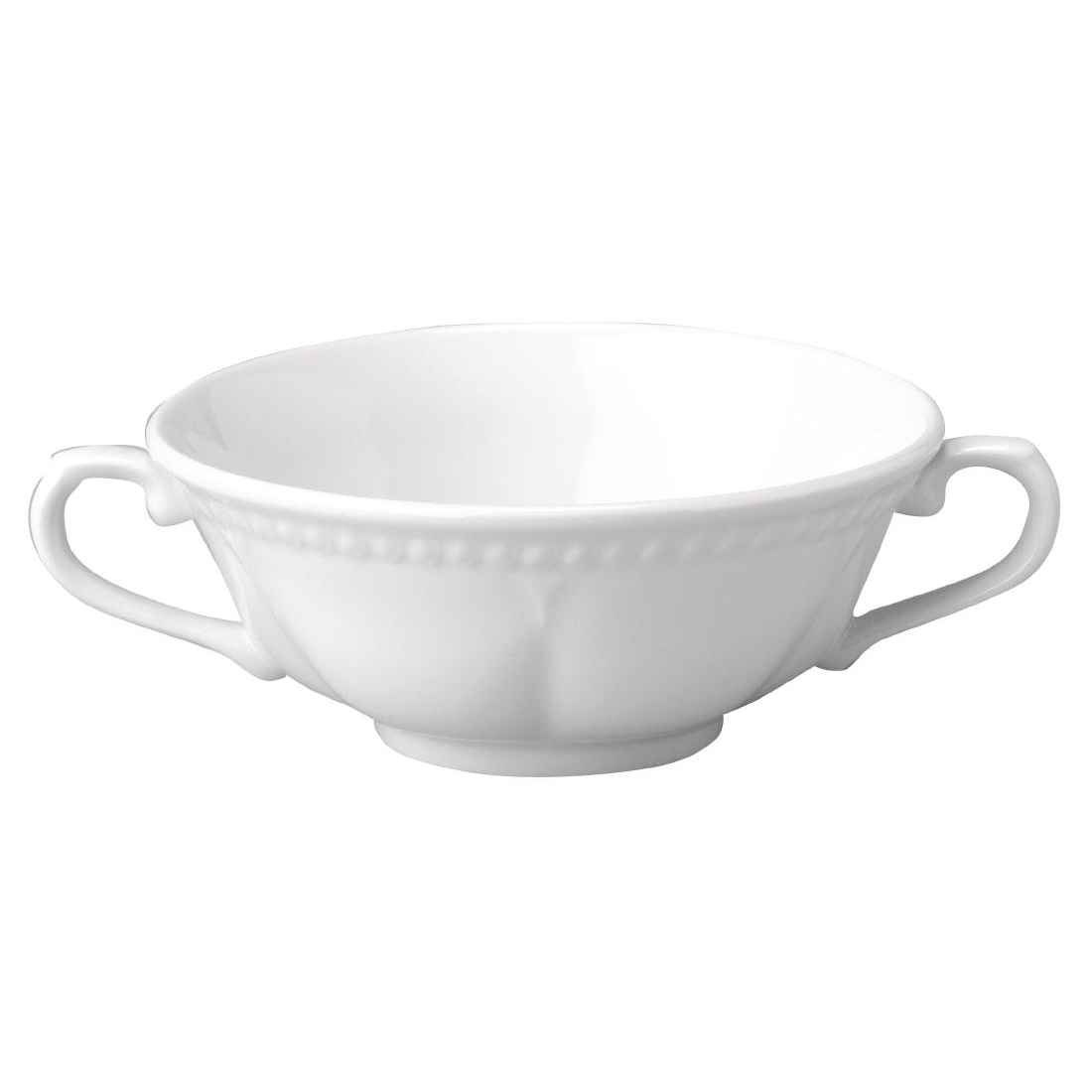 Churchill Buckingham White Handled Soup Bowls 384ml