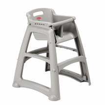 Rubbermaid Sturdy Stacking Hig h Chair Platinum