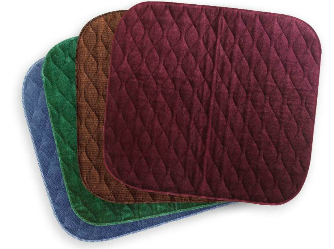 Velour Chair Pad - Green