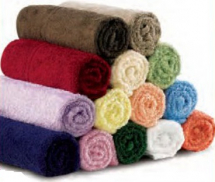 MIP Knitted Bath Towels - Claret (Pack of 6)