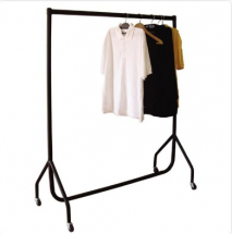 4 ft Clothes Rail with Wheels