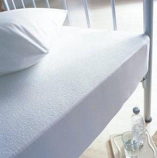 Single Bed Matrress Protector Terry Top With PU Backing