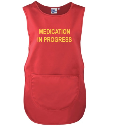 Medication Round Tabard - Red - Small