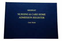 Nursing & Care Home Admissions s Register -50 Double Pages