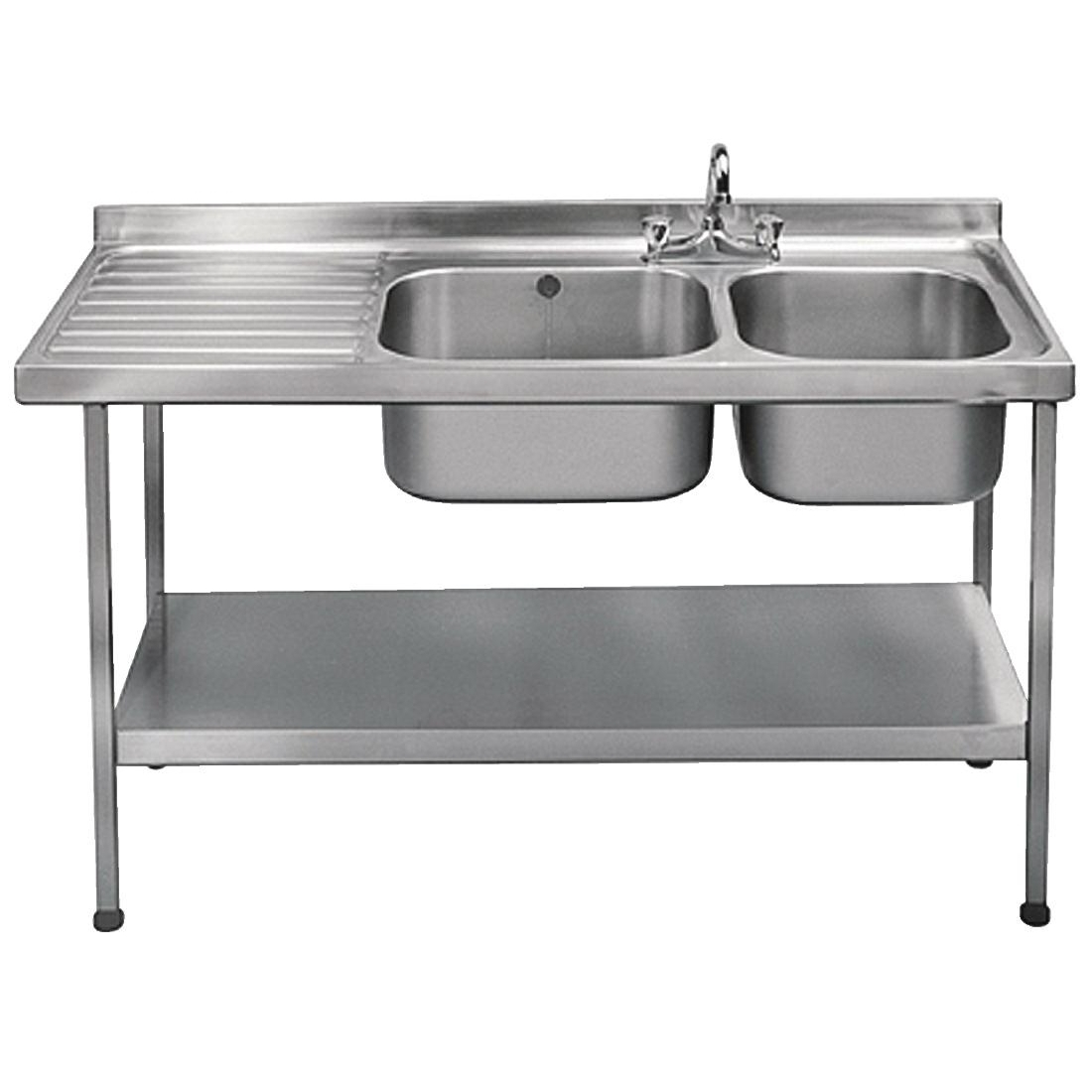 Franke Sissons Self Assembly Stainless Steel Double Sink Right Hand Bowl 1500x600mm