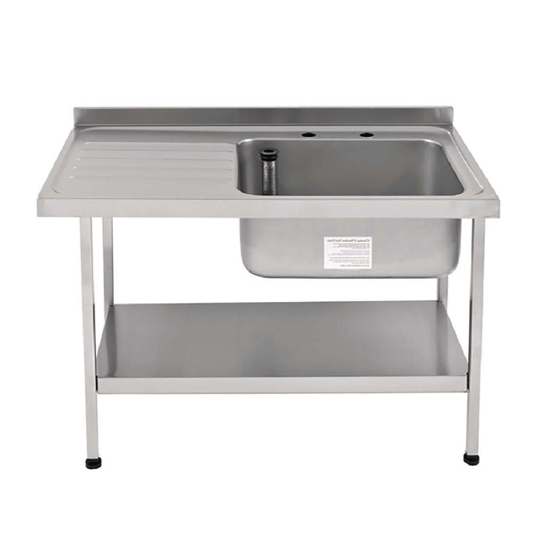 Franke Sissons Self Assembly Stainless Steel Sink Right Hand Bowl 1200x650mm