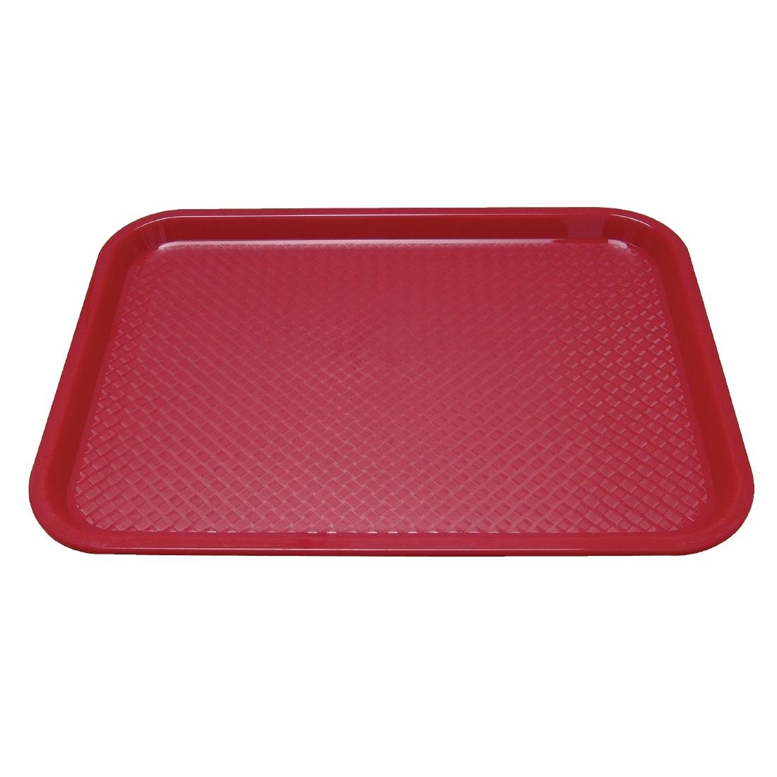 Kristallon Plastic Fast Food Tray Red Medium
