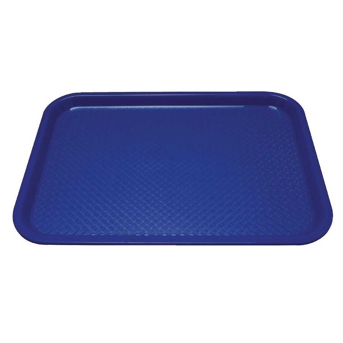 Kristallon Plastic Fast Food Tray Blue Medium