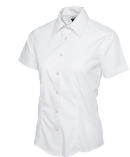 Ladies White Short Sleeve Shirt